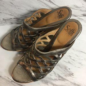 Sofft Bronze Wedge Sandals - sz 10